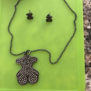Authentic TOUS necklace and earrings